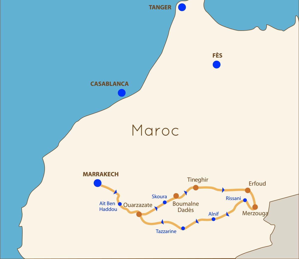 À partir de Marrakech