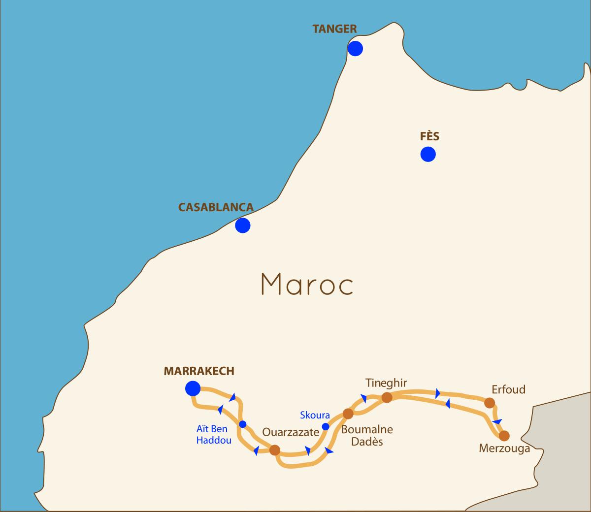 un circuit de Marrakech à Merzouga