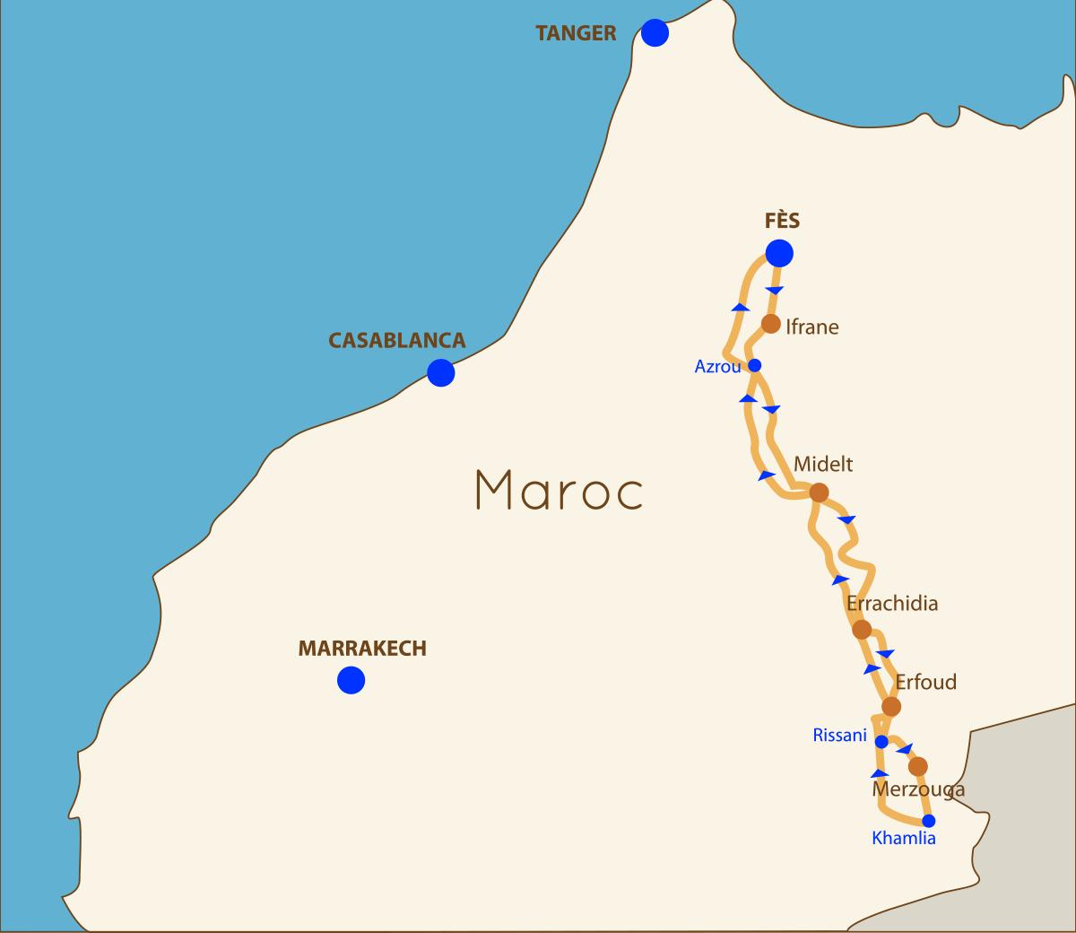Circuit Marrakech Fès 3 jours & 2 nuits